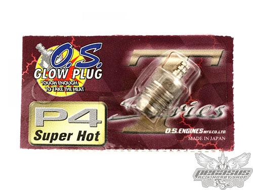 O.S. P4 Turbo Glow Plug - Super Hot