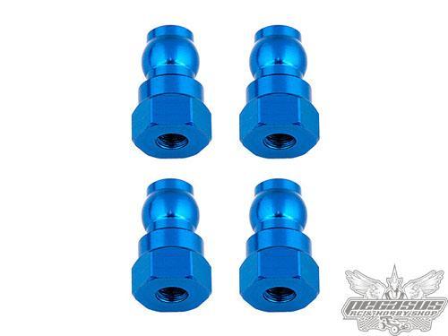 Team Associated Shock Bushings, 12 mm, blue aluminum