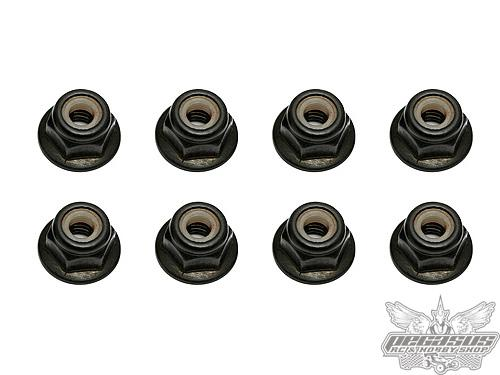 Team Associated M4 Locknut, with Flange and Knurl (8)