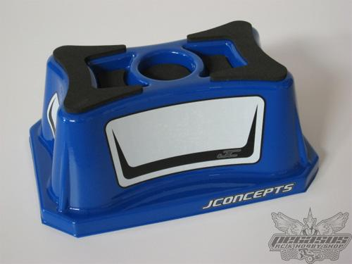 JConcepts Car Stand - Off Road 1/8 & 1/10th Scale, Molded Polycarbonate (Clear)