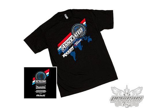 Team Associated 2016 Worlds T-shirt, black, X-Large