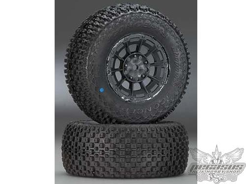 JConcepts Choppers - blue compound - black Hazard 12mm wheel - (Losi SCT-E, 22 SCT pre-mounted)