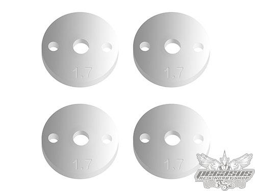 Team Associated FT 12mm Pistons V2, 2 x 1.7 mm, flat
