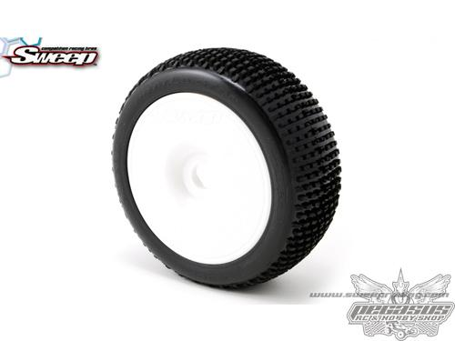 BATTLE STAR White(Medium) complete set tires/White 4pcs