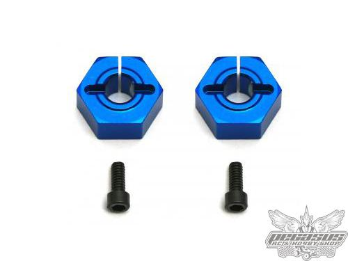 Team Associated 12mm Aluminum Clamping Wheel Hex, SC10 Front
