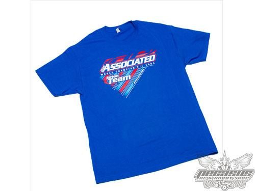Team Associated 2015 Worlds T-Shirt, medium, blue