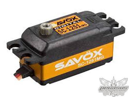 Savox SC-1251MG Low Profile High Speed Metal Gear Digital Servo-savsc1251mg