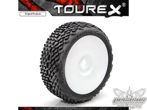 Tourex tires (2pcs) X600 with foam Medium (White Wheel) ungluded