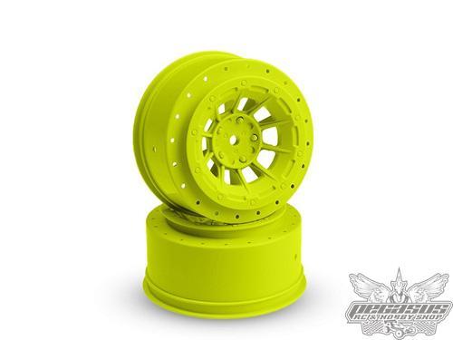 JConcepts Hazard - Slash rear, Slash 4x4 F&R wheel - (yellow) - 2pc