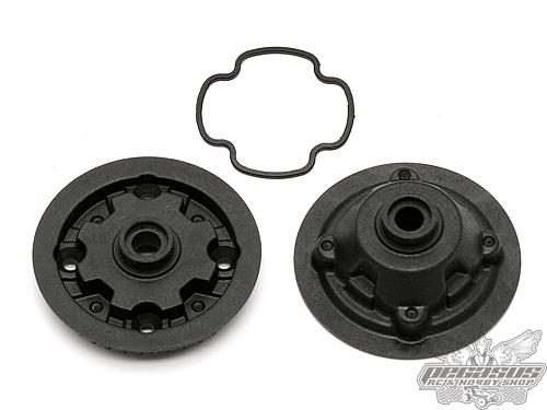 Team Associated Gear Diff Case and Pulley TC6