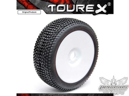 Tourex tires (2pcs) X700 with foam Medium (White Wheel) ungluded