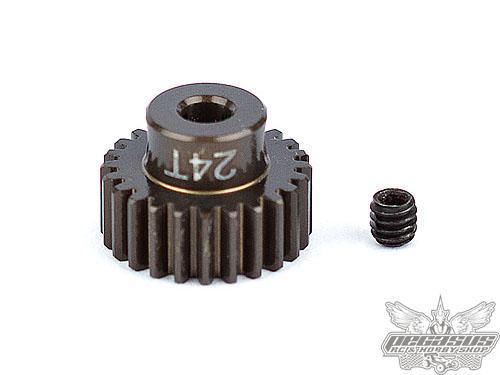 Team Associated FT Aluminum Pinion Gear, 24T 48P