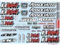RC car remote control Team Associated B64 Decal Sheet