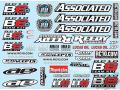 RC car remote control Team Associated B6 Decal Sheet