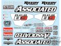 RC car remote control Team Associated RC8B3 Decal Sheet