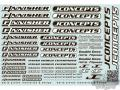 RC car remote control JConcepts - Finnisher decal sheet
