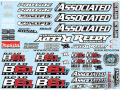 RC car remote control Team Associated B6.1 and B6.1D Decal Sheet